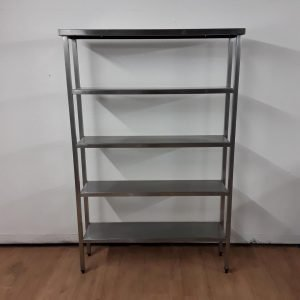 Used   Stainless Steel 5 Tier Shelves For Sale