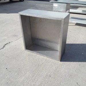 Used   Stainless Steel Condenser Hood 100cmW x 100cmD x 40cmH