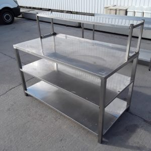 Used   Stainless Steel Table 150cmW x 76cmD x 86cmH