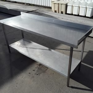Used   Stainless Steel Table 183cmW x 61cmD x 87cmH