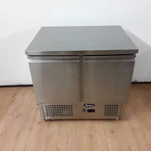 Used Atosa ESL3801 Stainless Double Bench Fridge For Sale