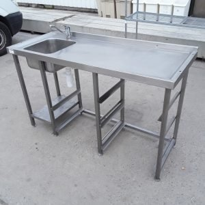 Used   Stainless Steel Single Sink For Sale