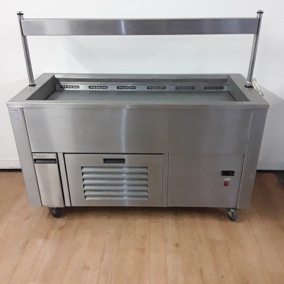 Used   Stainless Chilled Display Salad Bar For Sale