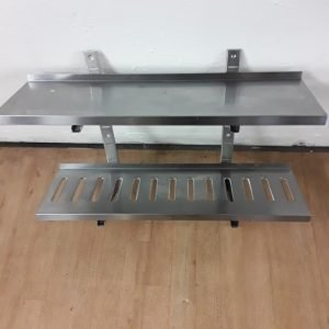 Used   Stainless Steel Double Wall Shelf For Sale