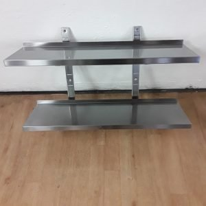 Used   Stainless Double Wall Shelf For Sale