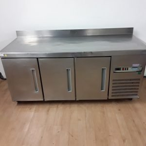 Used Polar  Stainless Triple Bench Fridge For Sale