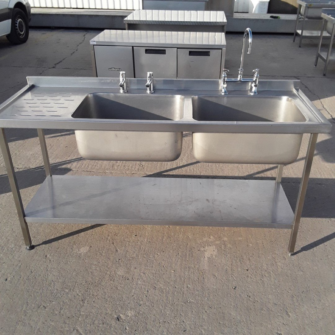 Used   Stainless Double Sink For Sale