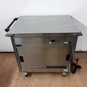 Used Lincat P6P2 Stainless Hot Cupboard Trolley For Sale