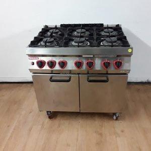 Used Angelo Po G1FAGST-CPMO 6 Burner Range Cooker For Sale