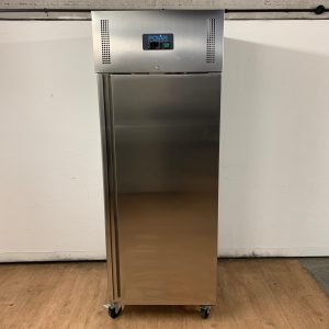New B Grade Polar U632 Stainless Heavy Duty Single Upright Fridge 74cmW x 83cmD x 200cmH