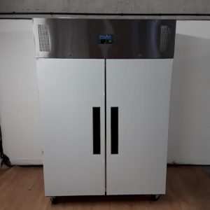 New B Grade Polar G594 Stainless Double Upright Fridge 134cmW x 81cmD x 199cmH