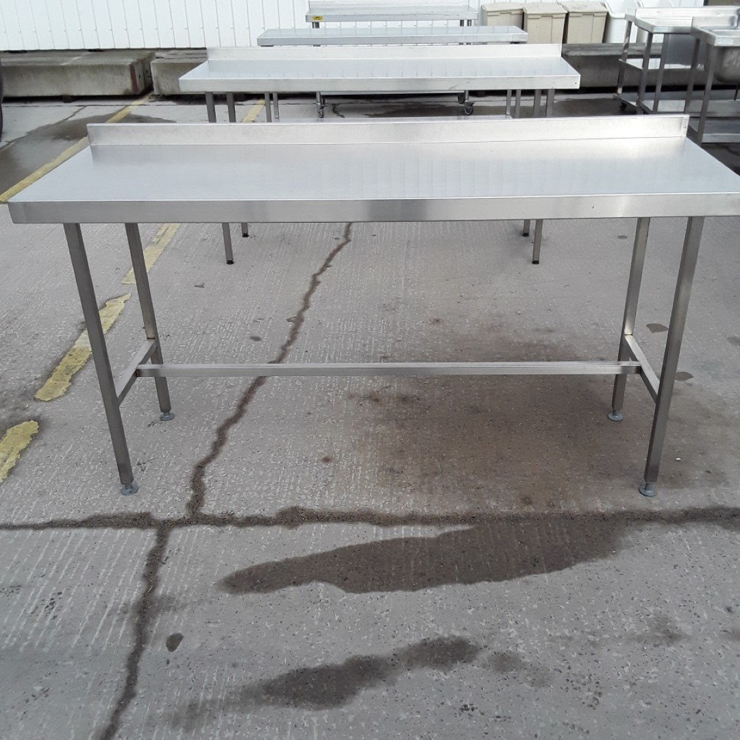 used stainless steel table 180cmw x 60cmd x 93cmh h2. Black Bedroom Furniture Sets. Home Design Ideas