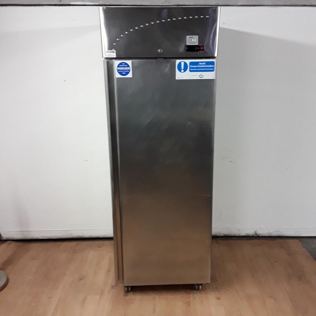 Used   Stainless Steel Single Upright Freezer For Sale