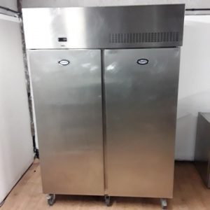 Used Foster PSG1350H Stainless Steel Double Upright Fridge For Sale