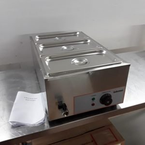 New  BM165 Stainless 3 Pot Wet Bain Marie For Sale