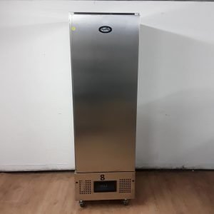 Used Foster FSL400H Stainless Steel Single Upright Fridge For Sale