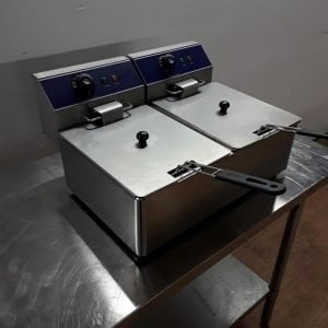 New  KY-6L-2 Double Fryer Table Top 6L For Sale