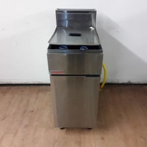 Used Fast fri Blueseal FF18 Freestanding Double Fryer For Sale
