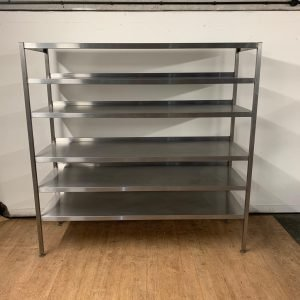 Used   Stainless steel freestanding shelves For Sale