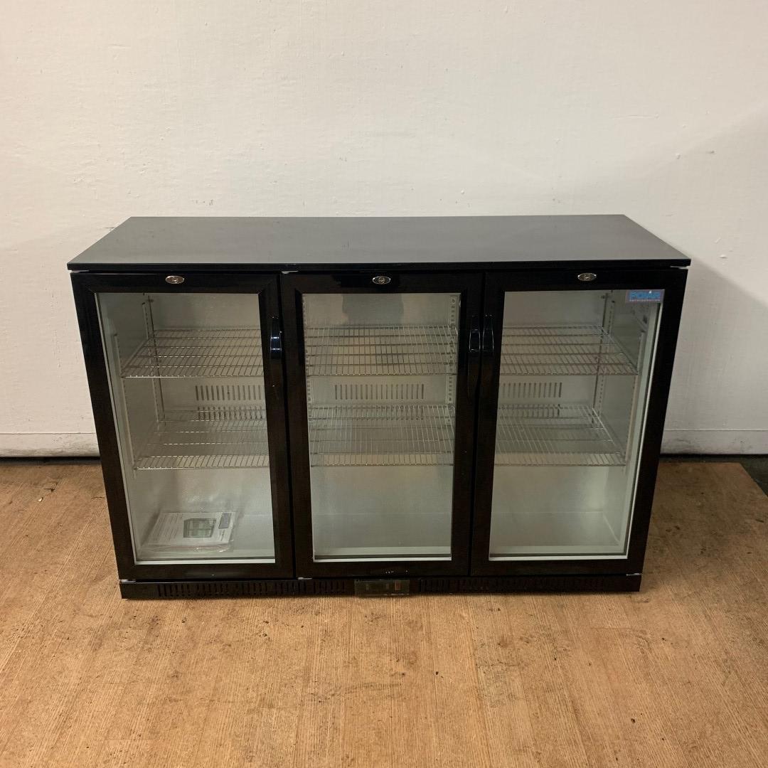 New B Grade Polar GL004 Triple glass fronted bottle fridge For Sale
