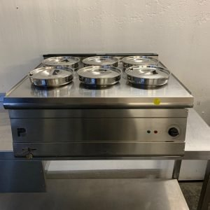 Used Parry PWB6 6 round pot wet bain marie For Sale
