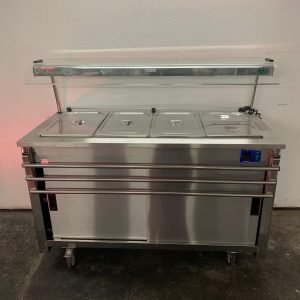 Used Moffat VCBM4 Carvery unit hotcupboard bain Marie top For Sale