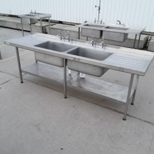 Used Sissons  Stainless Steel Double Sink For Sale