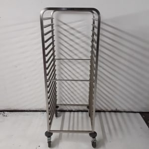 New B Grade Blanco  Stainless Steel Double Gastro Trolley For Sale