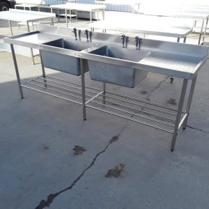Used Simply Stainless  Stainless Steel Double Sink For Sale