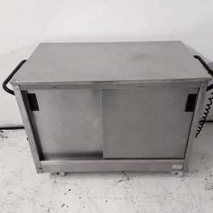 Used Victor  Stainless Hot Cupboard Trolley For Sale