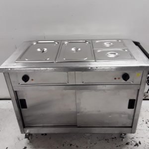 Used Lincat GBM3 Bain Marie Hot Cupboard Trolley For Sale