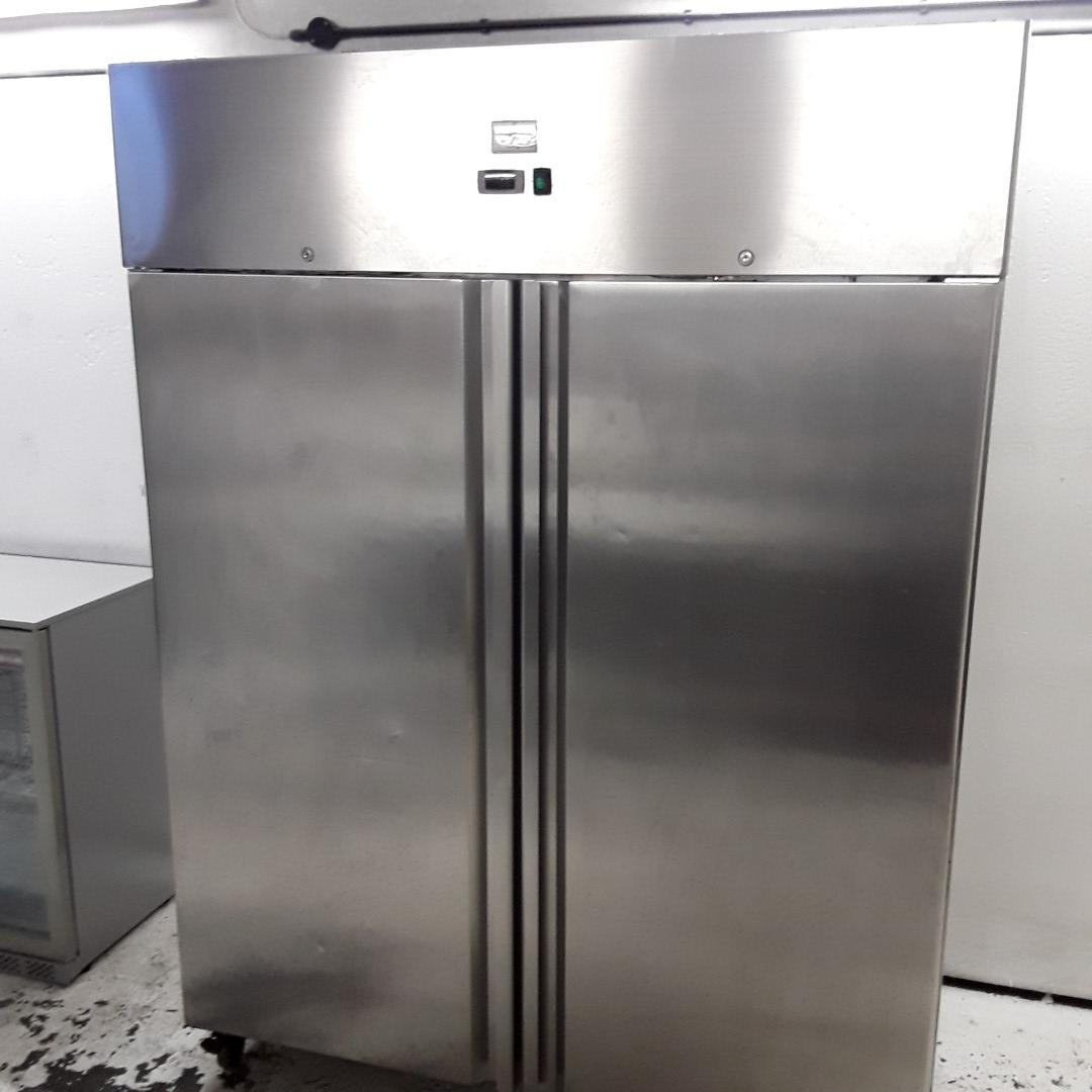 Used Kingfisher GN1410TN Stainless Steel Double Upright Fridge For Sale
