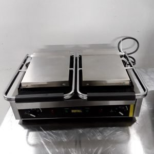 Used Buffalo DM992 Double Panini Contact Grill For Sale