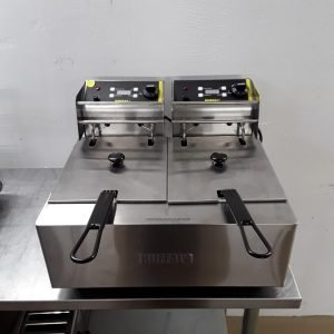 Ex Demo Buffalo L495 Double Table Top Fryer 5L For Sale