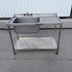 Used   Stainless Steel Single Bowl Sink For Sale