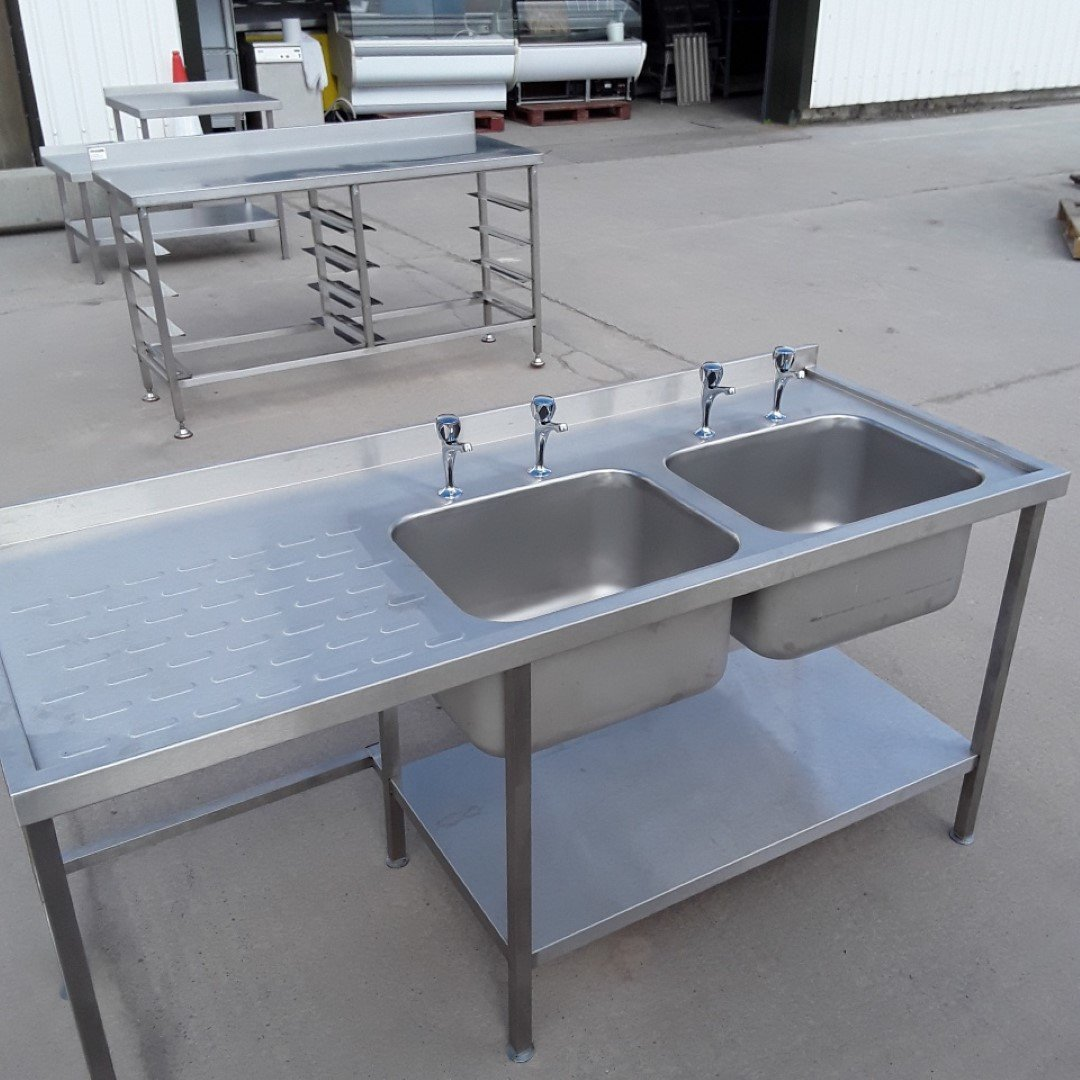 Ex Demo   Stainless Steel Double Sink For Sale