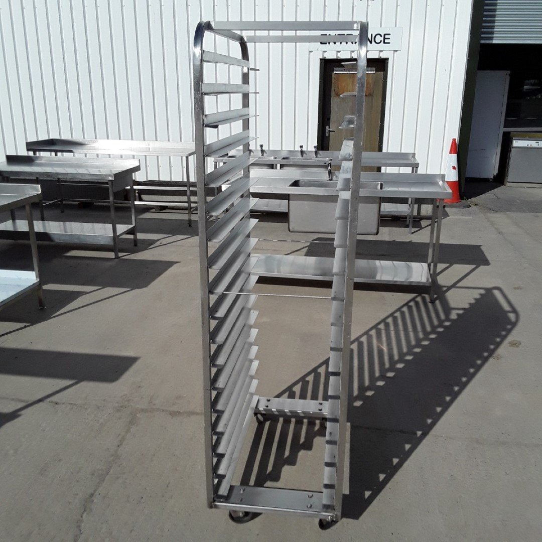 Used   Stainless Steel Bakery Trolley Rack For Sale
