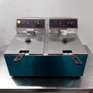 New B Grade  EF-8L-2 Double Table Top Fryer 8L For Sale