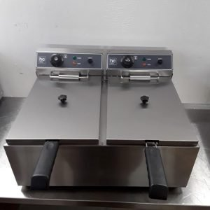 New HC HC-SFE2-17 Double Table Top Fryer 17 + 17L For Sale
