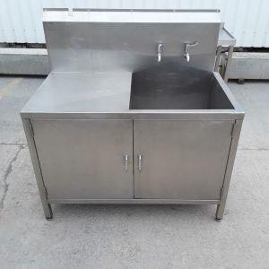 Used Teknomek  Stainless Steel Single Bowl Sink For Sale