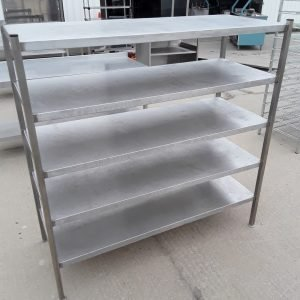 Used   Stainless Steel 5 Tier Rack For Sale