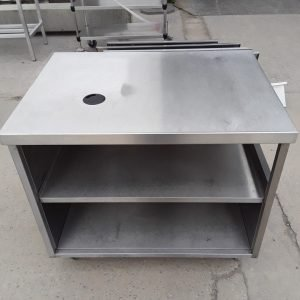 Used   Stainless Steel Table Cabinet For Sale
