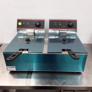 New B Grade  EF-6L-2 Double Table Top Fryer 6 L For Sale