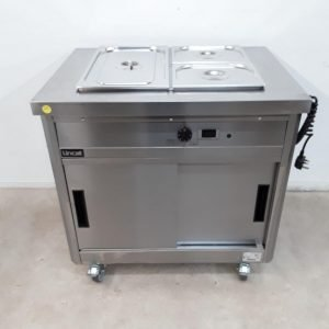 New B Grade Lincat P6B2 Bain Marie Hot Cupboard Trolley Wet For Sale