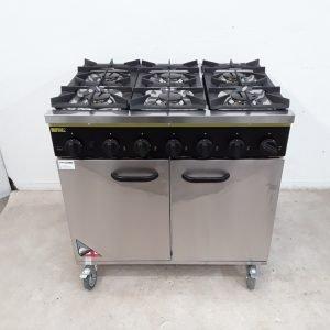 New B Grade Buffalo CE371P 6 Burner Range Cooker For Sale