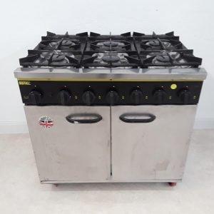 Used Buffalo BFF90LP 6 Burner Range Cooker For Sale
