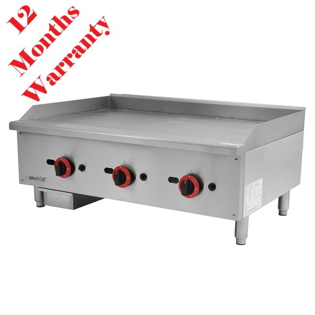 New Imettos 101059 3 Burner Flat Griddle For Sale