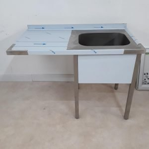 New B Grade RM Gastro  Stainless Steel Single Bowl Sink For Sale