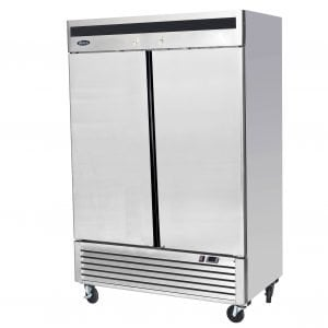 New B Grade Atosa MBL8960 Stainless Steel Double Upright Fridge For Sale