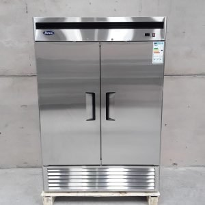 New B Grade Atosa MBF8187 Stainless Steel Double Upright Fridge For Sale